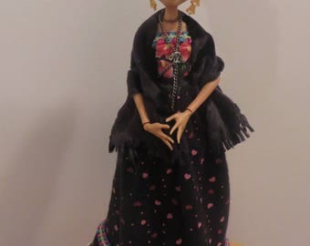 Frida Kahlo OOAK art doll