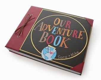 Our Adventure Book Guestbook Photo Album, Scrapbook, Memory Book