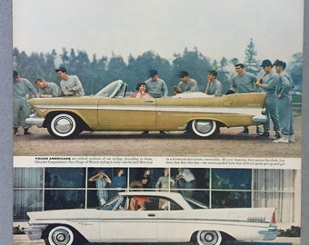 1957 Chrysler Corp Double Page Print Ad - Plymouth Belvedere Convertible - New Yorker - Dodge Coronet - De Soto Fireflite - Imperial Crown