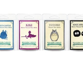 Studio Ghibli Inspired Wax Melt Set - Howl's Castle, Kiki, Totoro and Soot Sprites