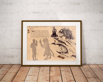 Medium - Deep One - Lovecraft Art Print