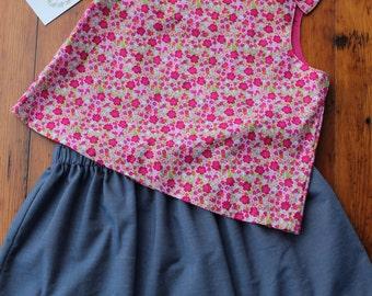 Pink Floral Top & Skirt Set
