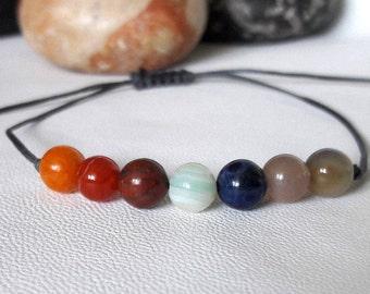 7 Chakra Bracelet Yoga Bracelet Protection Bracelet Friendship Bracelet minimalist bracelet Gemstone Bracelet Crystal Healing, Calming