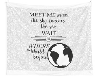 Typography Travel Quote Tapestry