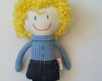 boy doll, handmade dolls, handmade cloth dolls, cloth dolls, fabric dolls, boy gift, rag doll, handmade rag doll, rag dolls, doll, boy toy