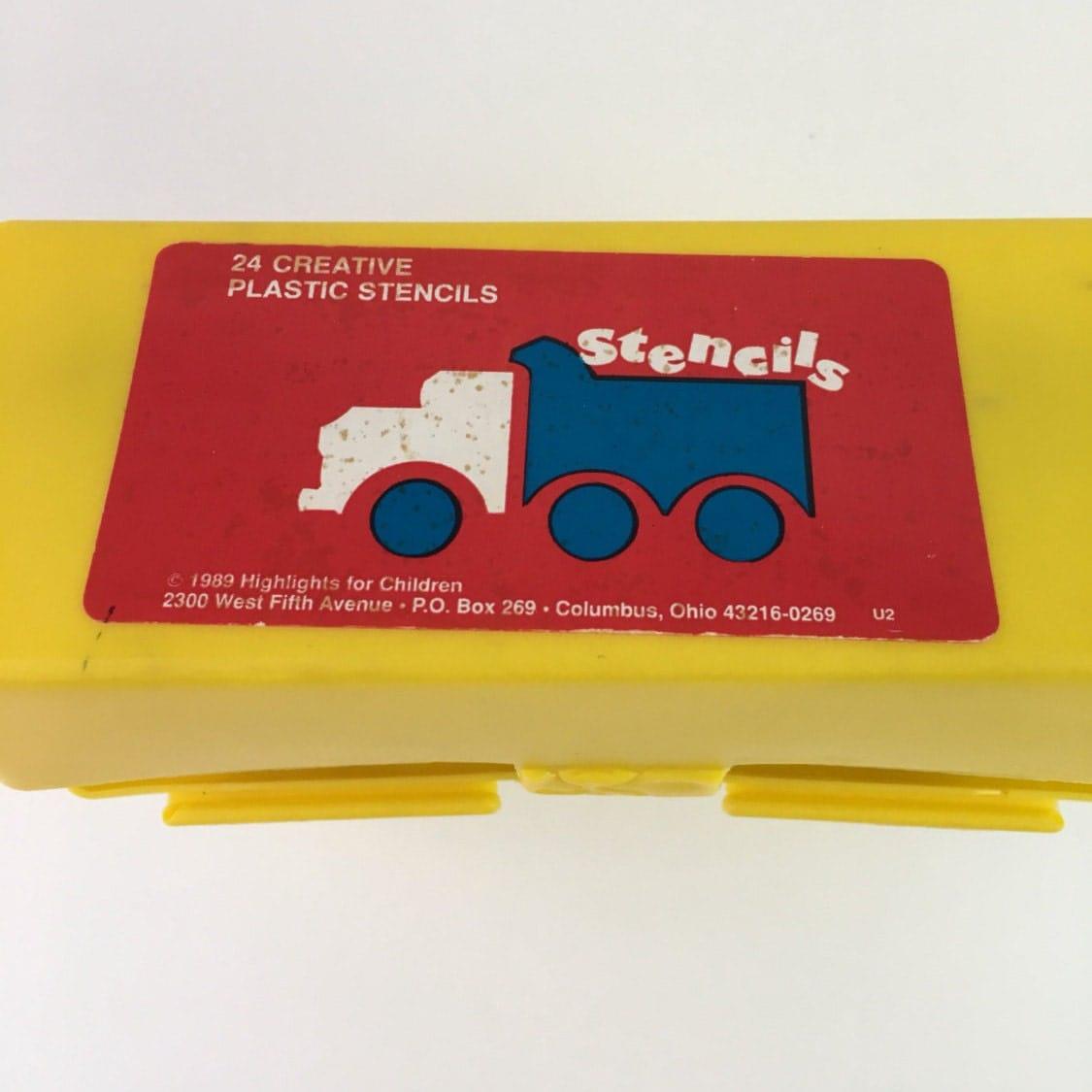 vintage highlights stencil box 1989 stencil box box of stencils