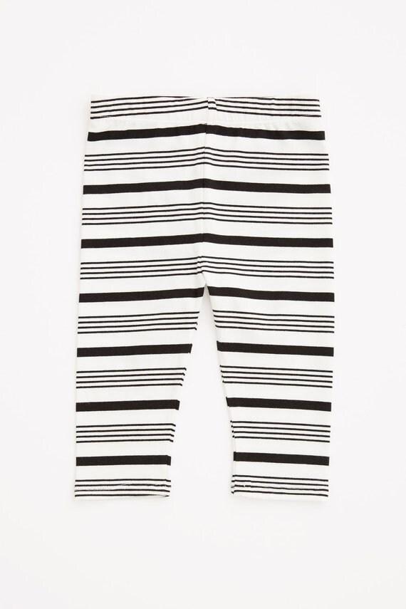 CARROUSEL - 3/4 lenght legging for kids - white striped