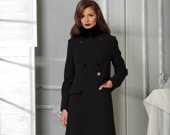 Long women wool coat/ Winter coat/ The elegant and very stylish coat VESNALETTO.
