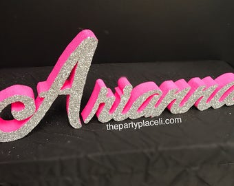 Custom Script Name for Sweet 16 Candelabra, Quinceanera & Mitzvah Candle Lighting Centerpiece, Candy Buffet, Boards, Signs