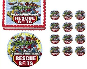 Transformers Rescue Bots Edible Cake Topper Image, Rescue Bots Cake, Transformers Cake, Transformers Cupcakes, Rescue Bots Party