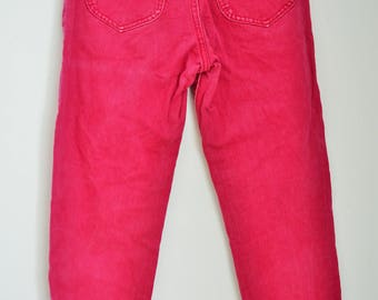 Vintage Womens Lee Cooper Denim Jeans / Pants / Trousers / High Waist / 90's / Small / S / Pink / Oversize