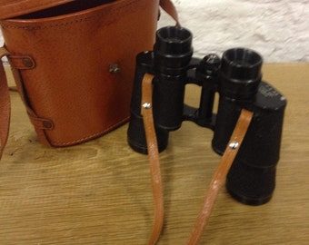 Vintage Made in Occupied Japan Binoculars OFUNA COSMOS Coated 7 x 35 - Field 6.5 degrees No. 39910.