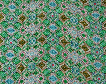 """Designer Fabric, Geometric Print, Multicolor Fabric, Dressmaking Fabric, Sewing Material, 44"""" Inch Rayon Fabric By The Yard ZBR543B"""