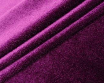 """Purlpe Velvet Fabric, Dress Fabric, Sewing Crafts, Stretch Velvet Fabric, 58"""" Inch Wide Fabric By The Yard ZVE90I"""