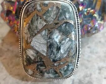 Beautiful Copper Seraphinite Necklace