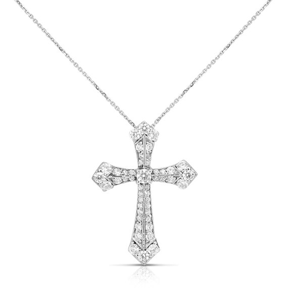 diamond cross necklace for women holy vintage templar cross