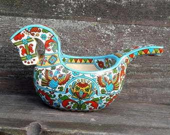 """Russian folk art.Hand made wooden scoop""""Horse"""". Home decor. Wood  beer-bowl.Ladle."""