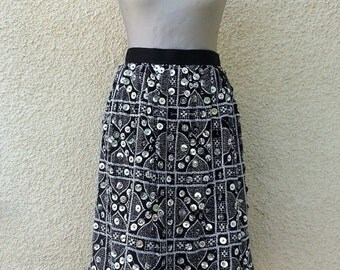 SALE // Vintage Mirror Embellished Party Skirt