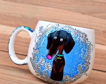 dachshund badger dog mug for him