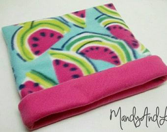 Summertime Watermelons - Fleece Snuggle Bag/Cuddle Sack For Hedgehog / Rat / Guinea Pig / Chinchilla / Ferret / Sugar Glider / Small Animal