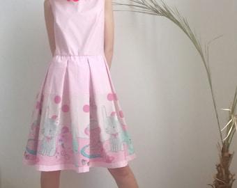 Pink Dress / Day Dress / Party Dress by FabraModaStudio / D116
