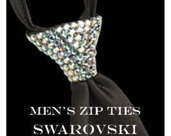 Men's Zipper NeckTie (Black)