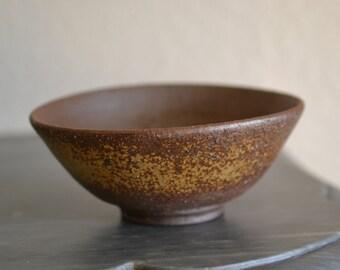 Japanese Bizen Pottery Buhddist Tea Ceremony Bowl, Signed