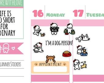 Munchkins - Dog Lady Planner Stickers (M219)