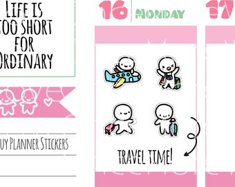 Munchkins - Flight Travel with Luggage Planner Stickers (M264)