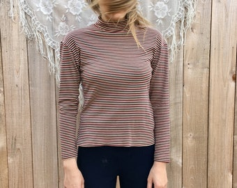 Striped 70's turtleneck