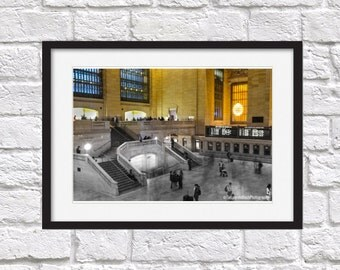 Grand central station, New york, photography, black and white,original print, photo print, central station photo, wall art, photo new york,