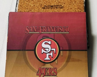 San Francisco 49ers Ceramic Tile Drink Coasters / 49ers Coaster Set / Set of 4