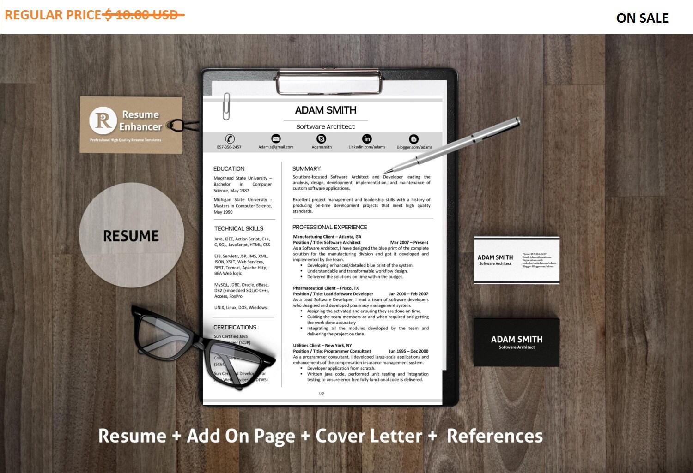 Minimalist Classroom Jobs : Minimalist resume template professional