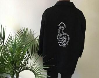 Black Screenprinted Jacket (xxl)