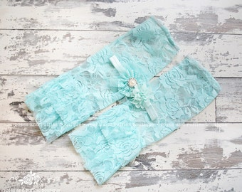 Aqua Lace Baby Leg Warmers, Baby Girl Leggings, Ruffle Leg Warmers, Infant Leg Warmers, Baby Photo Prop, Leg Warmer Set, Headband