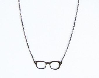 Glasses Pendant (Antique Bronze )