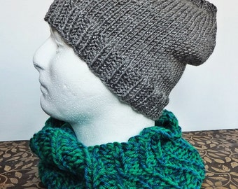 Knit Beanie Hat -- Choose your size and color