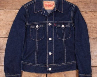 Womens Levis Vintage Western Rockabilly Denim Trucker Jacket Size M 10 R3643
