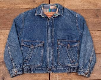 """Mens Vintage Levis Blanket Lined Denim Workwear Chore Jacket Blue M 42"""" R4728"""
