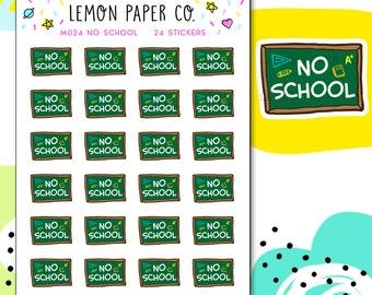 M024 No School // Planner Stickers
