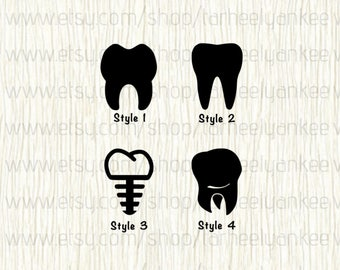 Tooth Car Decal, Molar Car Decal, Tooth Implant Car Decal, Dentist Car Decal, Dental Hydenist Car Decal