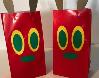 The Very Hungry Caterpillar Birthday Party Favor Bags
