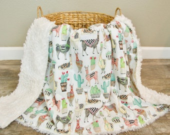 llama blanket | etsy