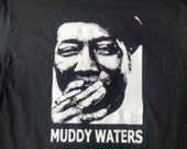 MUDDY WATERS Famous Blues Musician tee - Chicago Bluesman - Blues Guitarist - Black Guitar Player