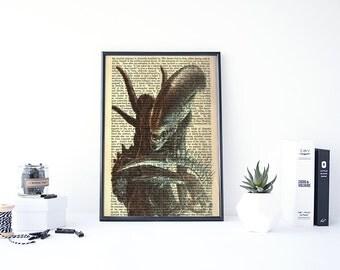Alien Movie Poster, Alien Poster, Alien Print, Alien Art, Alien Covenant, Xenomorph, Alien Isolation, Poster Wall Art, Old Movies