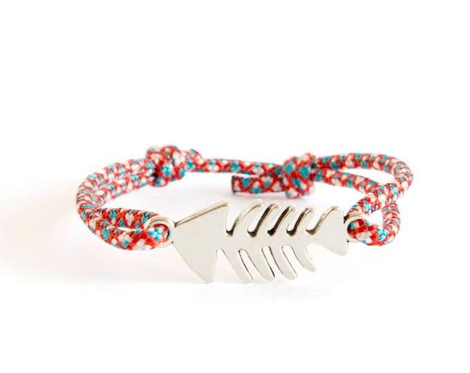 Navy Bracelet, Navy Jewelry, Navy Knot Bracelet Cuff, OOAK in Navy bracelets