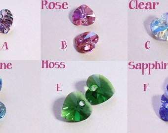 Swarovski Heart Charms  (can only be purchased w/ collars)