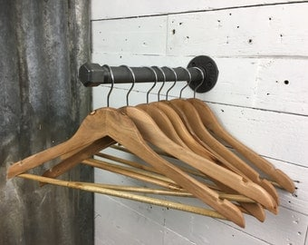 Torpoint : Clothes Rail from industrial pipework and plumbing fittings.