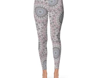 Mandala Pattern Pants - Womens Yoga Leggings, Yoga Tights, Yoga Pants, Stretch Pants, Mandala Leggings, Printed Leggings