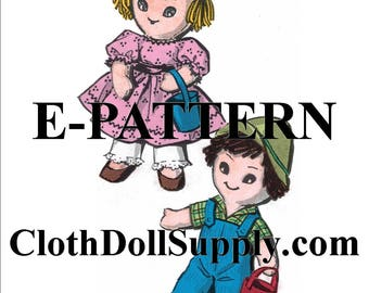 E-Pattern – Jack & Jill Cloth Doll Sewing Pattern #EP 2439